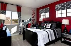 Ninja / Karate Bedroom For A Teen Boy. #red #black #white #bedroom Paint Is  Rum Runner PPG 232 7 (Light Texture, Eggshell Sheen).
