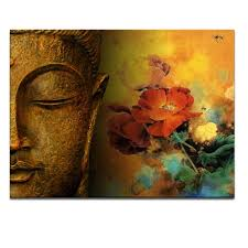 Modern Art Paintings For Living Room Modern Buddha Painting Printing On Canvas Abstract Portriat Buddha