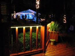 outdoor deck lighting led. led deck lights on during an outdoor dinner party lighting led