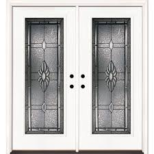 white front door with glass. 74 In. X 81.625 Sapphire Patina Full Lite Unfinished Smooth Right-Hand White Front Door With Glass D