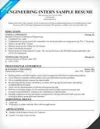 Intern Resume Sample Wikirian Com