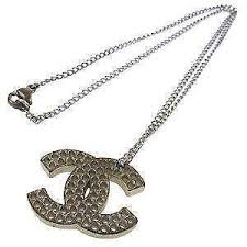 chanel necklace. silver chanel necklaces necklace -