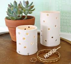 This simple yet stunning DIY clay votive from A Beautiful Mess is the  perfect dcor item to add that subtle candlelight glow to your space.