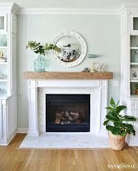 diy fireplace mantle wood beam mantel coastal fireplace makeover with marble herringbone tile diy fireplace mantel diy fireplace mantle