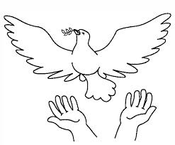 Vredesduif Kleurplaat Godsdienst Peace Dove Bible Art En