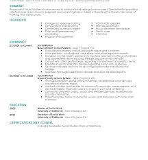 Social Work Resume Sample Social Worker Sample Resume Child