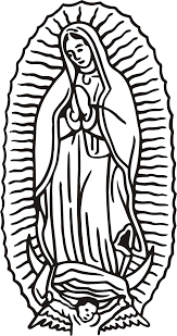 Our Lady Of Guadalupe Coloring Page Coloring Home