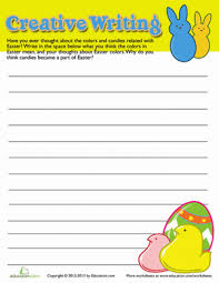 Help your first grader write his very. Easter Writing Prompts Education Com
