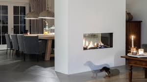 gas fireplace contemporary closed hearth double sided aspect premium st faber