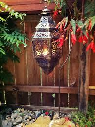large hanging punched moroccan lantern