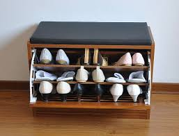 Designs Ideas:Small Colorful Box Shoe Cabinet Stylish Wooden Seat Shoe  Cabinet On Wooden Floor