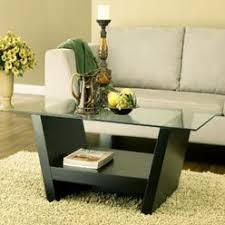 HOMES: Inside + Out IoHOMES Hudson Coffee Table With Glass Top, Black