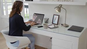 Home office technology Modern Successful Woman Working In Modern Home Office With Laptop Computer And Mobile Phone Technology Emails And Connectivity For Entrepreneur Business Shutterstock Successful Woman Working In Modern Stockvideos Filmmaterial 100