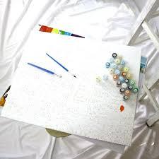 Tranh sơn dầu số hóa - tranh tô màu theo số- tranh phong cảnh đẹp, Tặng  khăn,có khung 40x50cm - Các loại tranh khác Hãng OEM