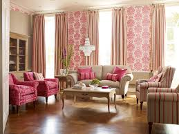 Wallpaper Living Room Decorations The Open Space Living Room Concept Pink Decoration