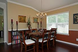 gorgeous dining room colors with chair rail with dining room color schemes chair rail