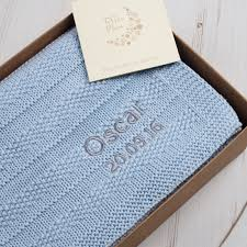 personalised baby bubble blanket blue grey personalised baby bubble blanket