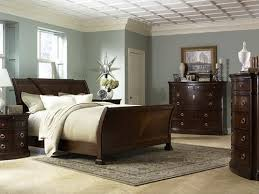 dreamy blue grey walls with dark furniture bedroom dark furniture