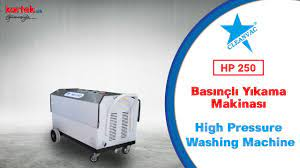 KARTEKNİK -CLEANVAC HP 250 BASINÇLI YIKAMA MAKİNESİ TANITIM / 250 BAR HİGH  PRESSURE WATER PROMOTİON - YouTube