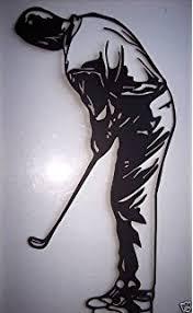 golf wall art metal