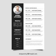 Resume Templates Free Download Gorgeous elegant resume template free download elegant resume template vector