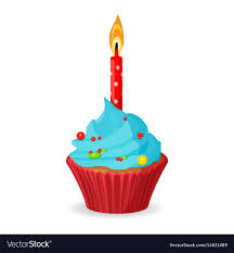 cupcake with candle vector.  Candle Intended Cupcake With Candle Vector