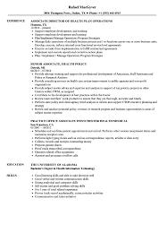Associate Health Resume Samples Velvet Jobs