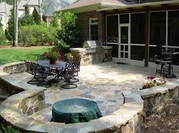 outside patio designs outdoor garden perfect paver patio design using stone including