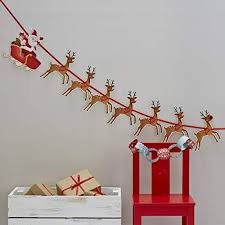 Office decoration christmas Diy Ginger Ray Christmas Rudolf Reindeer Santa Sleigh Party Kids Bunting Decoration Christmas Snowman Amazon Uk Christmas Office Decorations Amazoncouk