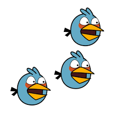 Blue Angry Bird as a picture for clipart free image