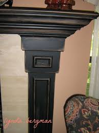 lynda bergman decorative artisan painting le s mantel from piclkled white washed oak to black