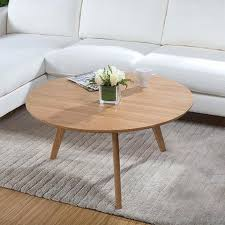 oak round coffee table dazzling round wood coffee table rustic good minimalist small apartment white oak