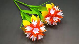 <b>Handcraft</b>: Paper Stick Flower <b>Making</b>   <b>DIY</b> Beautiful <b>Handcraft</b> with ...