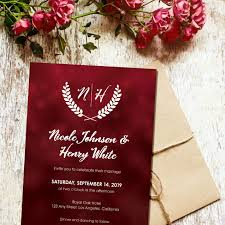 Red Wedding Card Design Red Wedding Invitation Template Wedding Invites With