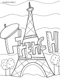 French Coloring Sheets Charming Design French Coloring Pages
