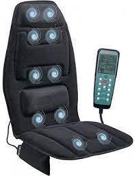 massage chair for car. heated back massage seat cushion car chair massager lumbar neck pad heater for amazon.com