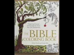 the coloring book inspiring scenes and scripture from the old testament flip through