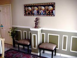 image of contemporary chair rail ideas