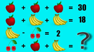 fruit math equation can you solve this in 30 seconds