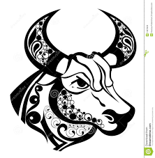 Cool Black Taurus Zodiac Sign Tattoo Stencil металл травление