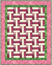 26 best Quilts - Basket Weave images on Pinterest | Quilt blocks ... & Simple basket weave pattern is made with strip piecing. Great for gift or  charity quilt, and ideal for beginners. Adamdwight.com