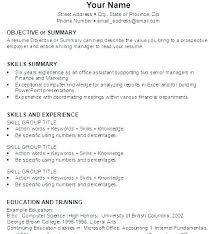 Key Words For Resume Template Gorgeous Simple Professional Resume Outline For Cover Letter Outline Cover