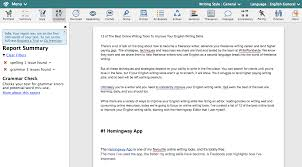 of the best online tools to improve your english writing skills i have copied this article into the editor to show you what it looks like in action i have selected the grammar feature in the top menu bar