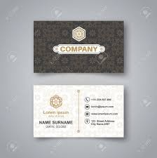 Blank Business Card Template Blank Business Card Template With Flower Pattern And Realistic