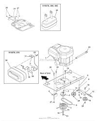 gravely 915080 020000 034999 zt 2348 23hp kohler 48 deck engine exhaust belts and idlers diagram gif