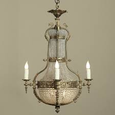 neoclassical sack of pearls bronze crystal chandelier