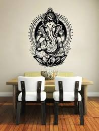 Small Picture Wall Decal Lotus Flower Om Sign Symbol Vinyl Sticker Mural Yoga