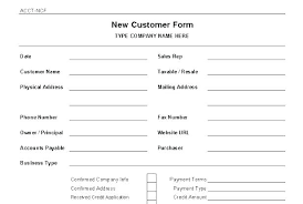 Business Credit Application Template Free Customer Form Generic New