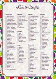 Lista De Compras Supermercado Lista De Compras De Supermercado Separada Por Setor Como Organizar