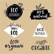 Ensemble Logo Biologique Logo Biologique Logos Et Vecteur
